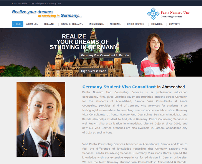 Germany Student Visa Consultant Web Design, SEO